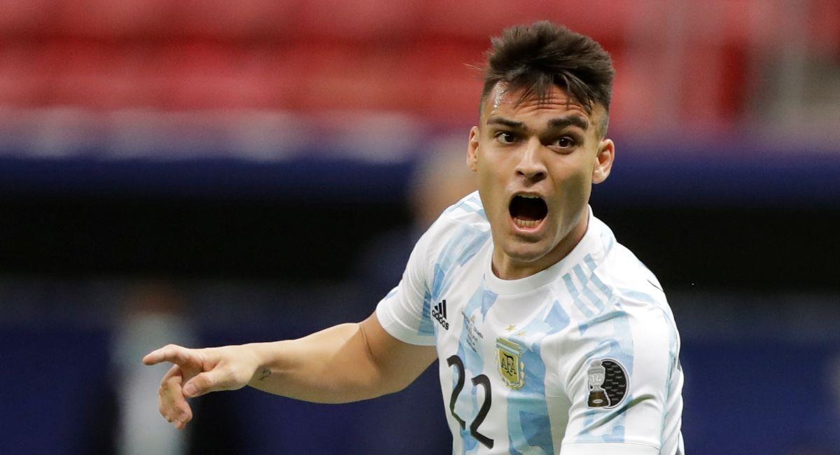 Lautaro Martínez anotó ante Colombia en las semifinales de la Copa América. Foto: EFE