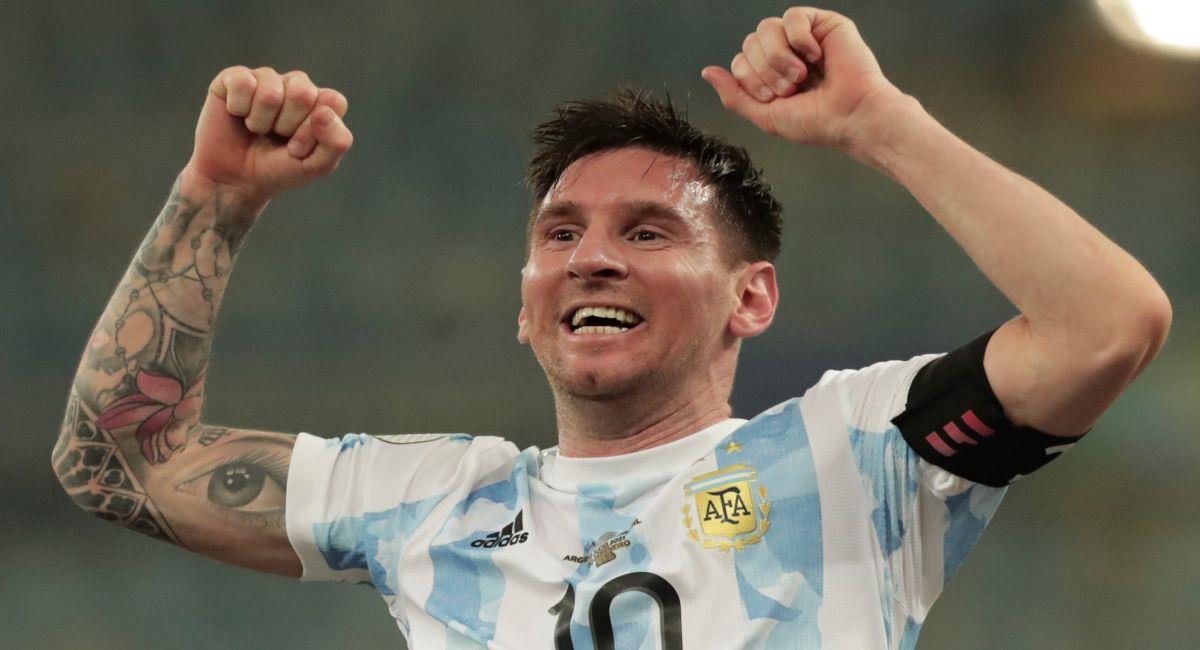 Lionel Messi, campeón de la Copa América. Foto: EFE