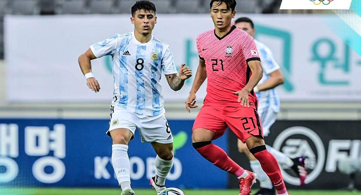 Argentina igualó con Corea en amistoso previo a los Juegos Olímpicos. Foto: Facebook AFA