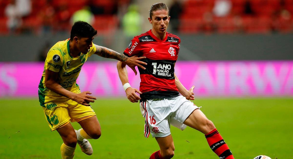 Defensa y Justicia fue vapuleado a manos de Flamengo. Foto: EFE