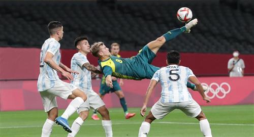Argentina tropezó en su debut en Tokio 2020