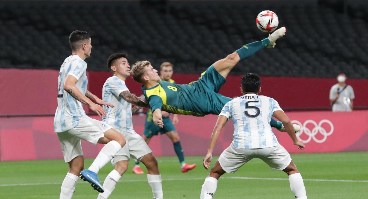 Argentina fue derrotada por Australia en Tokio 2020. Foto: Twitter Selección de Australia