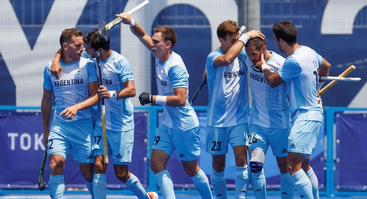 Argentina venció a Japón en hockey en Tokio 2020. Foto: EFE