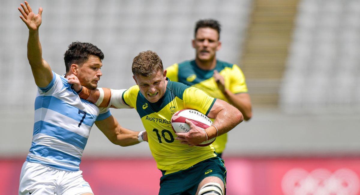 Argentina venció a Australia en el rugby olímpico. Foto: EFE