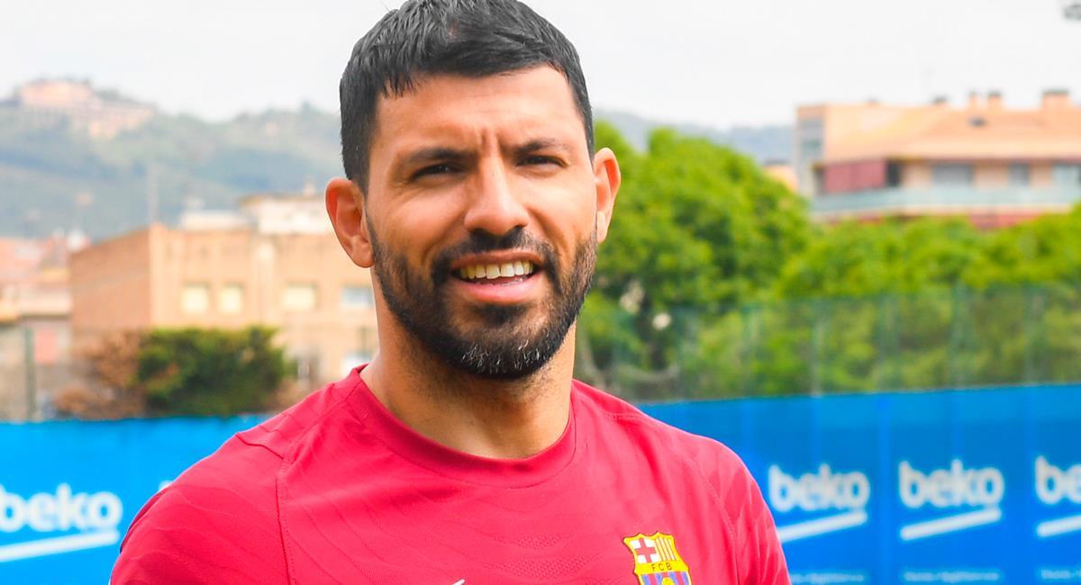 Sergio Agüero trabajó de manera diferenciada. Foto: Twitter @FCBarcelona_es