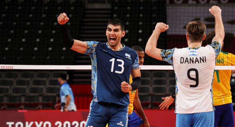 Argentina superó a Túnez en vóley