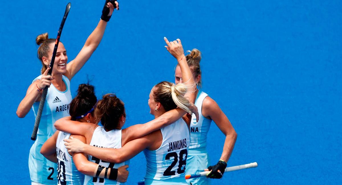 Argentina se metió a semifinales de hockey femenino venciendo a Alemania. Foto: EFE