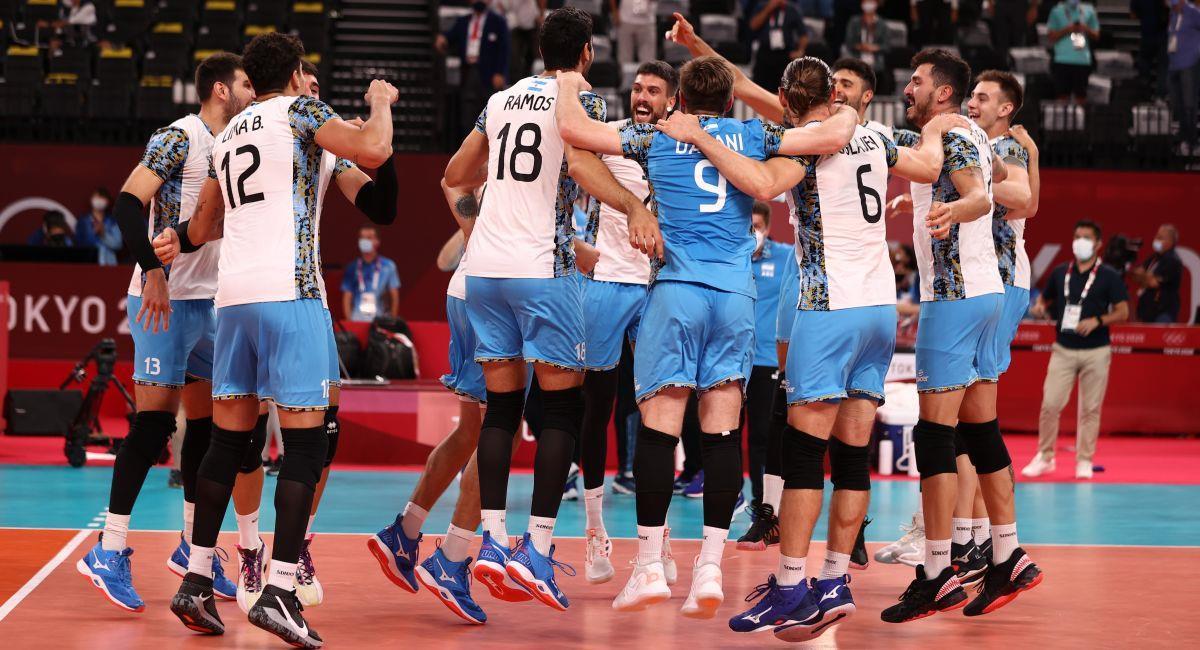 Argentina sueña con el podio de vóley masculino en Tokio 2020. Foto: EFE