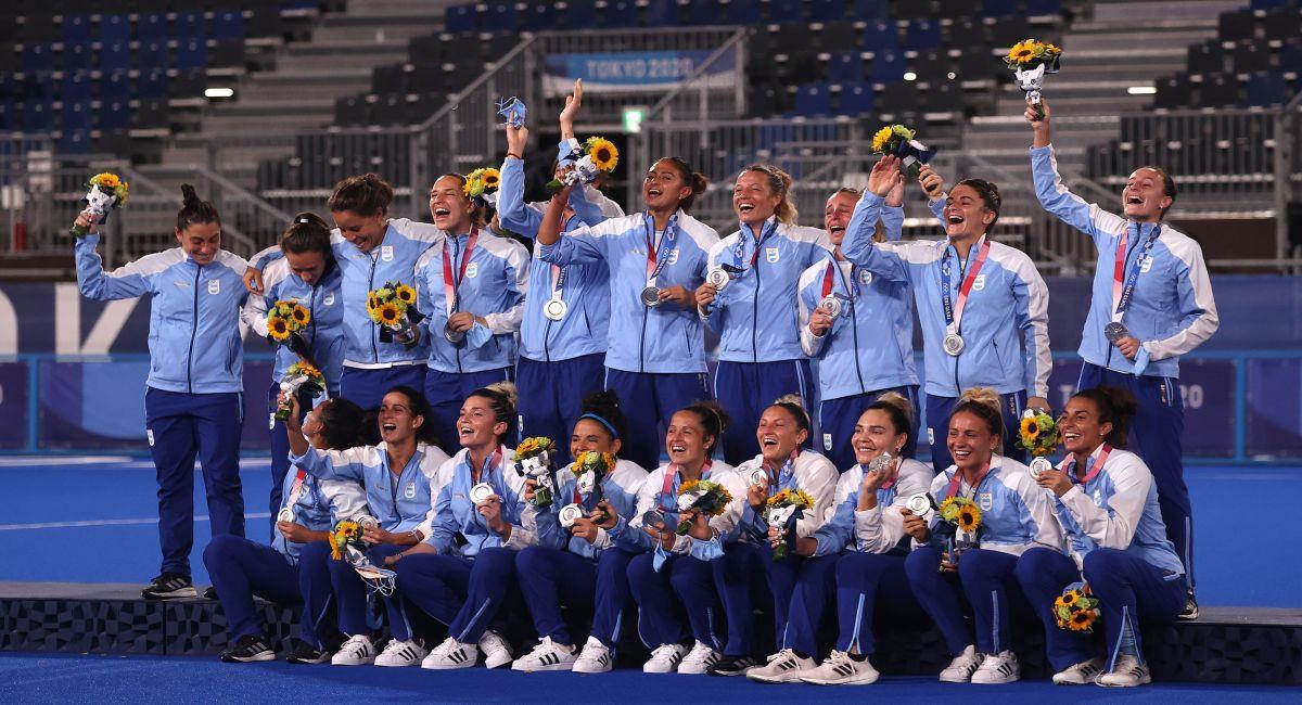 El equipo argentino de hockey femenino. Foto: EFE