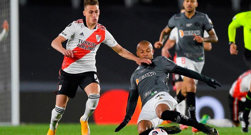 River cayó con Atlético Mineiro en casa
