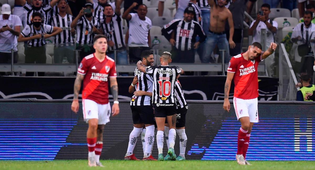 River Plate cayó ante Atlético Mineiro. Foto: EFE