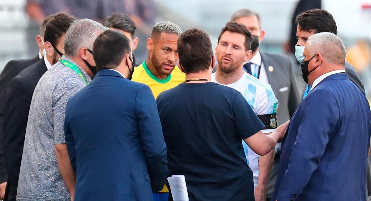 Brasil vs Argentina suspendido por el momento. Foto: EFE