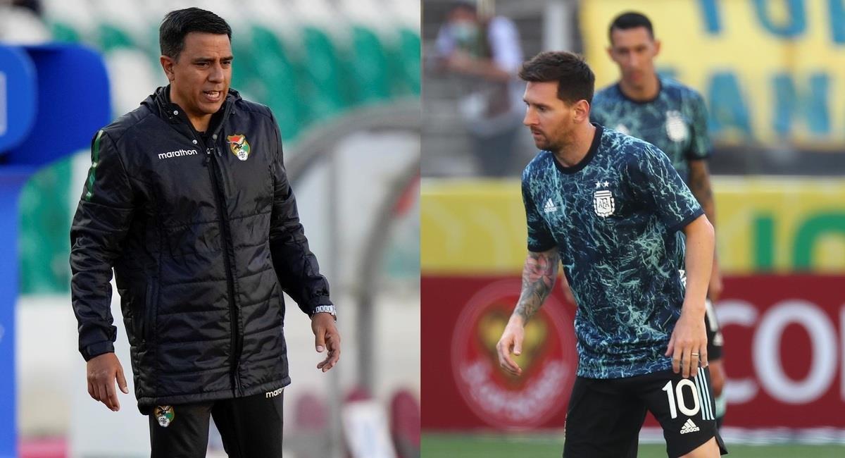 César Farías y Lionel Messi. Foto: EFE