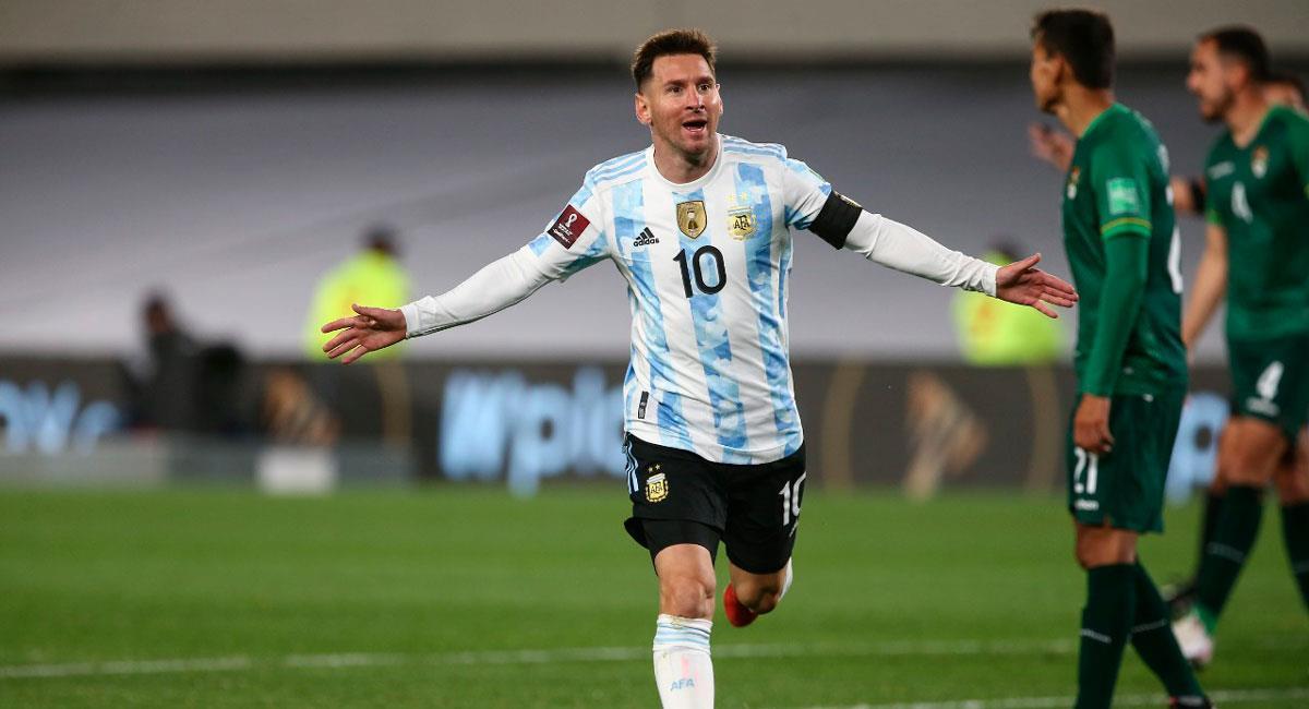 Messi igualó a Pelé como máximo goleador de selecciones sudamericanas. Foto: Twitter Argentina