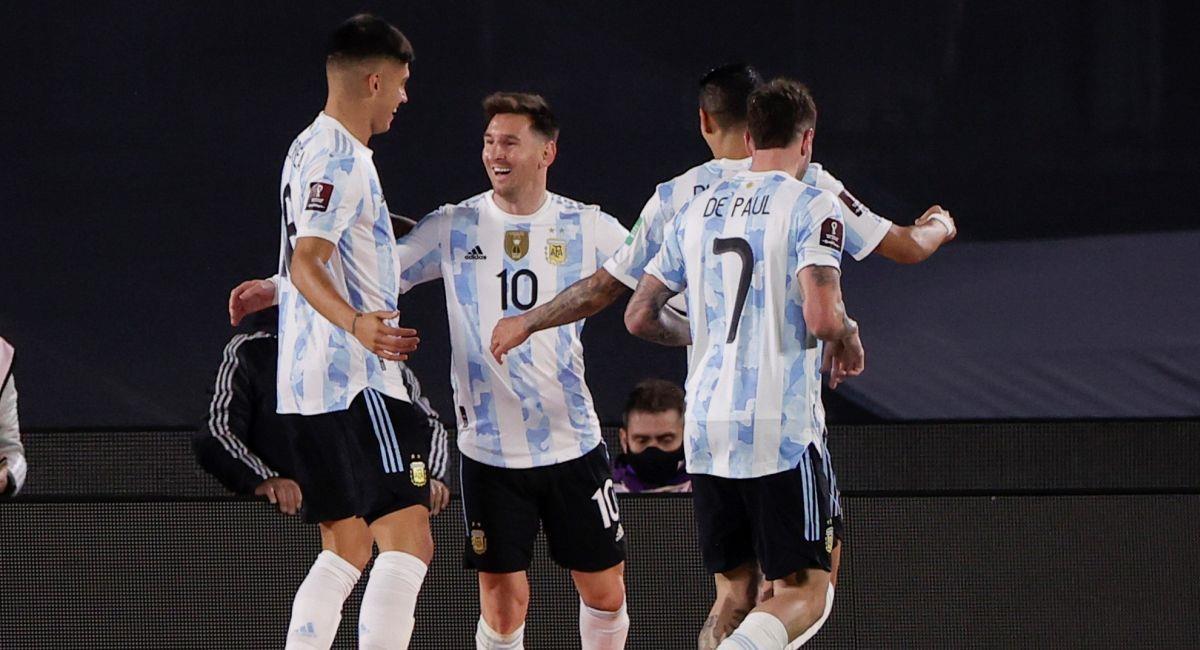 Argentina se encarrilla en las Eliminatorias Qatar 2022. Foto: EFE