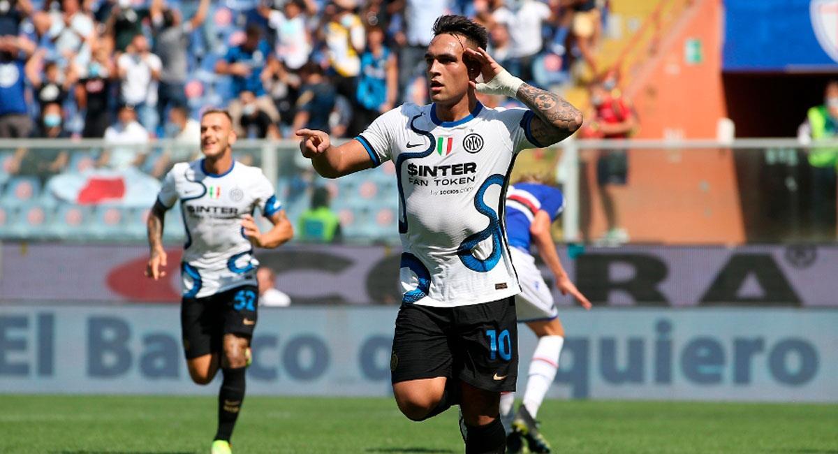 Lautaro anotó en el empate de Inter vs Sampdoria. Foto: Twitter Inter
