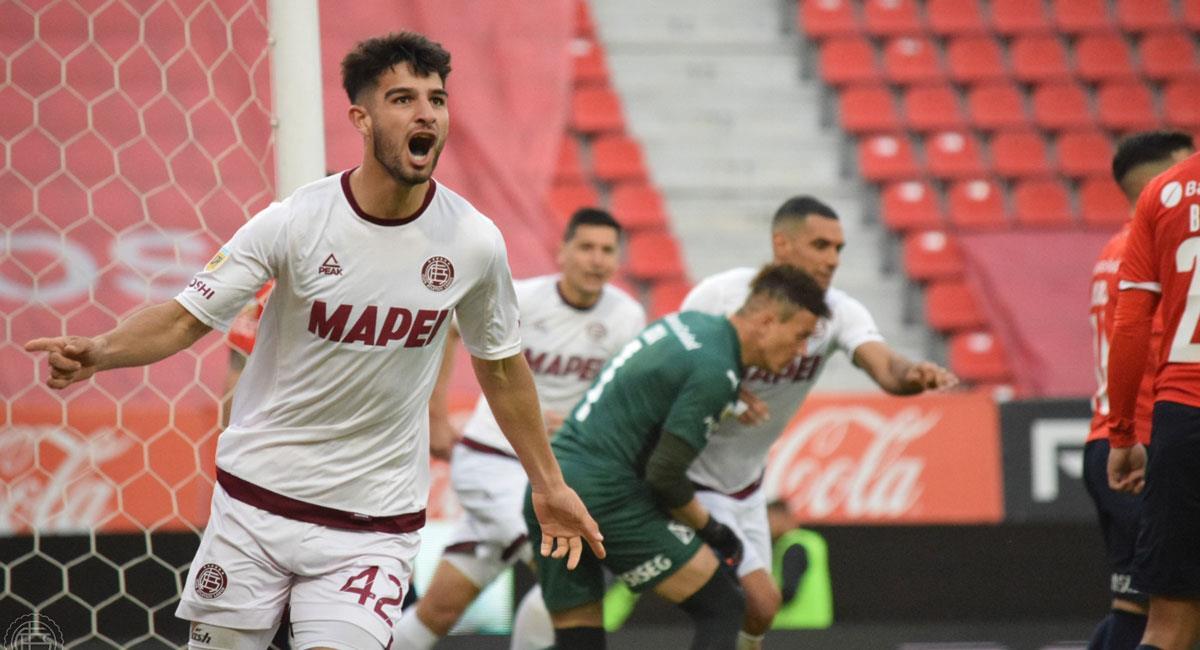López anotó ante Independiente. Foto: Twitter clublanus