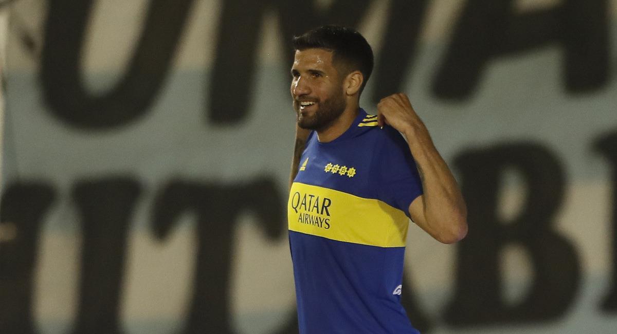 López celebra su tanto. Foto: @BocaJrsOficial