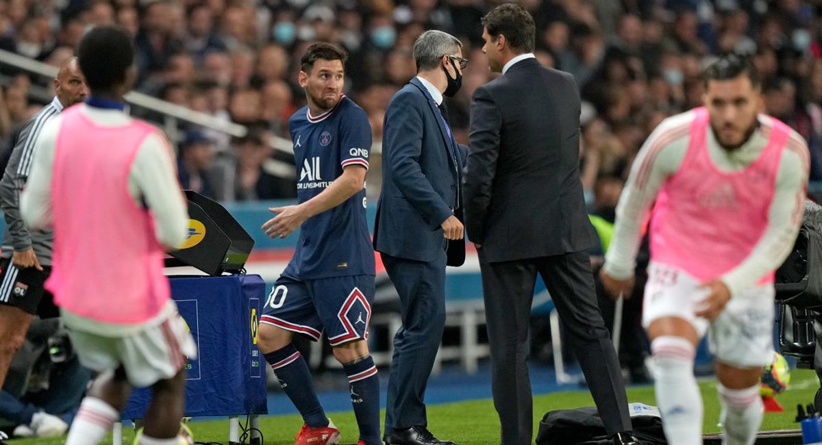 Lionel Messi no respondió al saludo de Mauricio Pochettino. Foto: Twitter Difusión