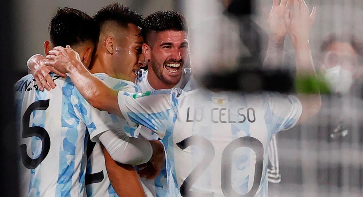 Argentina se impuso a Uruguay este domingo. Foto: EFE
