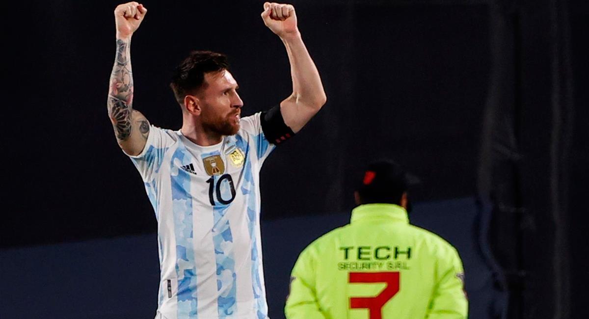 Lionel Messi apareció a los 38 minutos para el 1-0 de Argentina. Foto: EFE