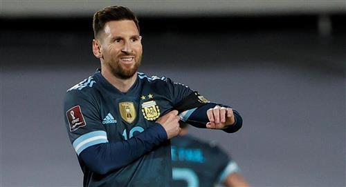 Messi criticó el arbitraje de Sampaio