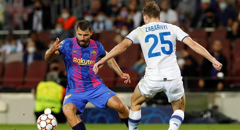 Agüero debutó con el Barcelona en la Champions