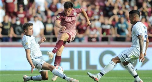 Lanús remontó tres goles para empatar con Talleres